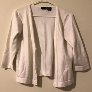 George White Cardigan Class V Neck